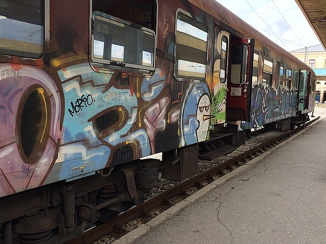 The local train from Plovdiv back to Sofia.