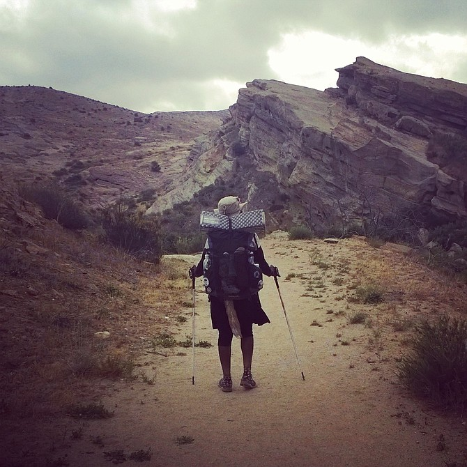Hiking the PCT through Vasquez Rocks Natural Area!