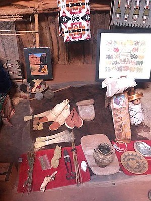 Navajo cultural artifacts.