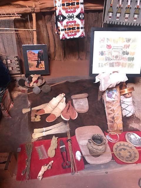 Navajo cultural artifacts.