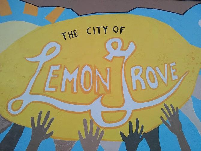 painting on side of Lemon Grove community center