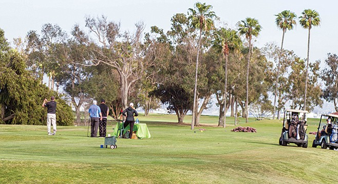 Coronado Municipal Golf Course's bayside setting and low green fees make it popular among local and visiting golfers. - Image by Matthew Suárez