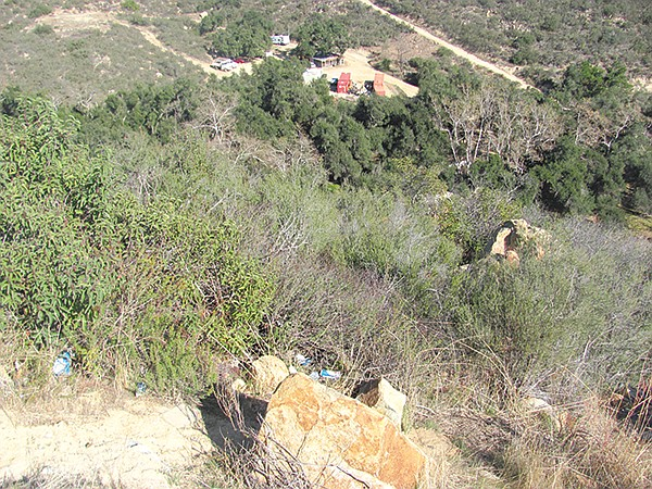 The Ortega Highway winds over the mountains from Lake Elsinore to San Juan Capistrano. Authorities determined Nathan Page most likely drove his car down this embankment intentionally.