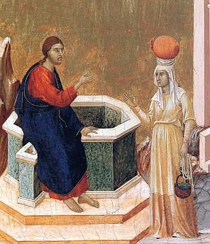 Jesus and the Samaritan woman, Duccio