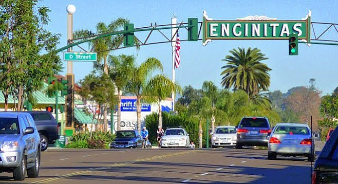 Opponents point out what is happening now in downtown Encinitas.