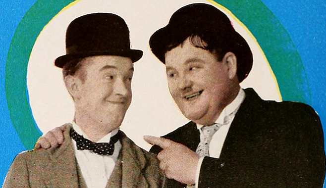 The Sultans of Slapstick, Stan Laurel and Oliver Hardy.