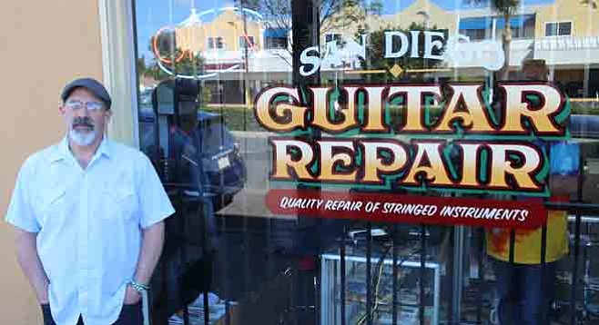 Owner Andy Greenberg heads for hopefully greener pastures on El Cajon Boulevard after moving to a new burg.