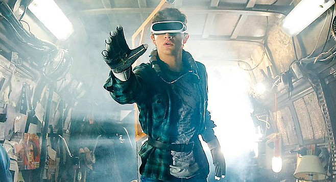 You can't tell because of the VR goggles, but in the OASIS, he's totally making the Spielberg Face.