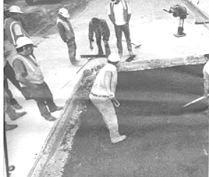 Roads like Old Highway 80 were paved with concrete; but after the war, asphalt paving was perfected.