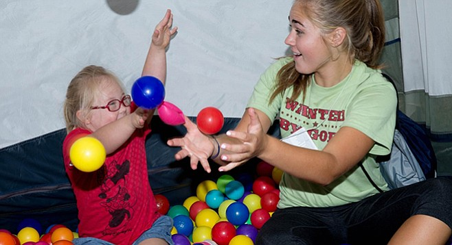 "The camp pairs ""Special Needs Buddies"" to each family."