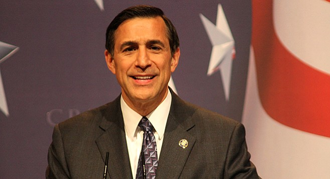 Darrell Issa, free from re-election worries, and on the road to Africa.