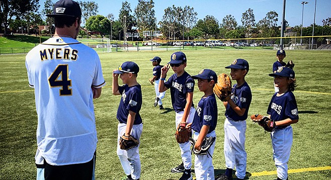 Padres Baseball Camp. Bring a glove, lunch, and water bottle.