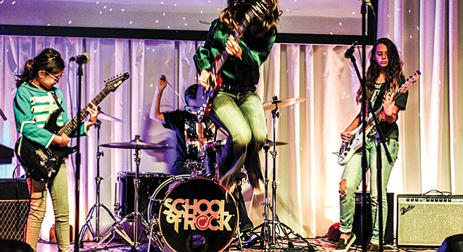 School of Rock: Playing in a band encourages practice.