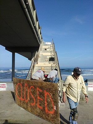 """""""Moisture down here closer to the ocean causes the rebar to take it in, then it starts to rust."""""""