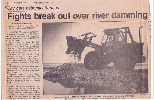 The famous Bilbray bulldozer, in a June, 1980 Star News clipping.