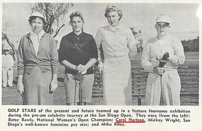 Carol Hartson Jensen (second from left) learned how to play at Presidio Hills and won her first tournament there in the 1950s. She went on to become a state champion.