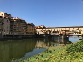 "The ""Old Bridge"" or Ponte Vecchio in Florence, Italy."