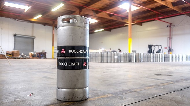 This 19-thousand-square-foot warehouse will soon produce vast quantities of boozy kombucha.