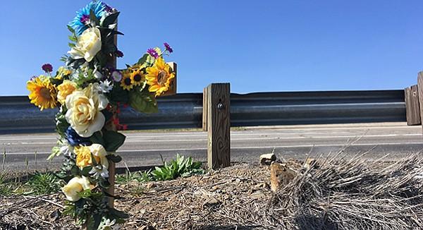 Blooming cross at Alan Medawar memorial