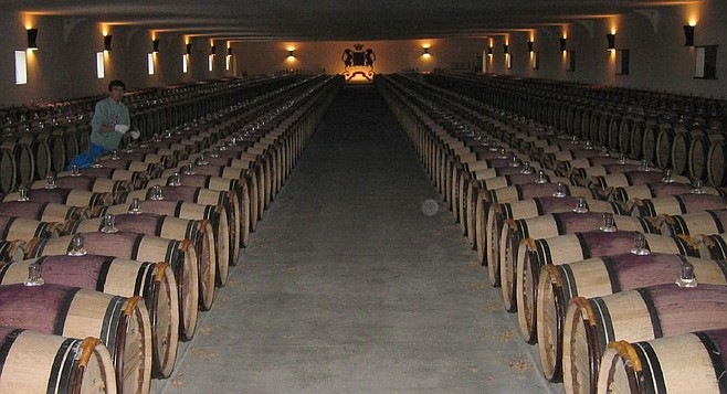 Barrel room at Chateau Mouton Rothschild  — not a hipster in sight