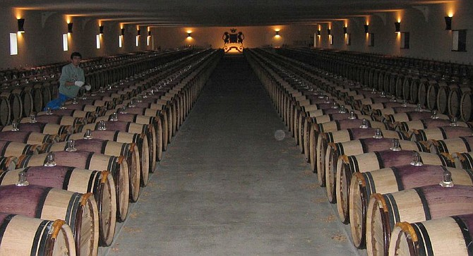 Barrel room at Chateau Mouton Rothschild  —not a hipster in sight