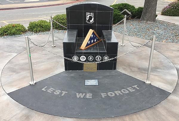 POW/MIA memorial at University and Spring St.