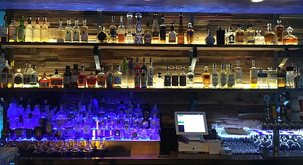 The carefully curated tequila bar at Patron's Corner