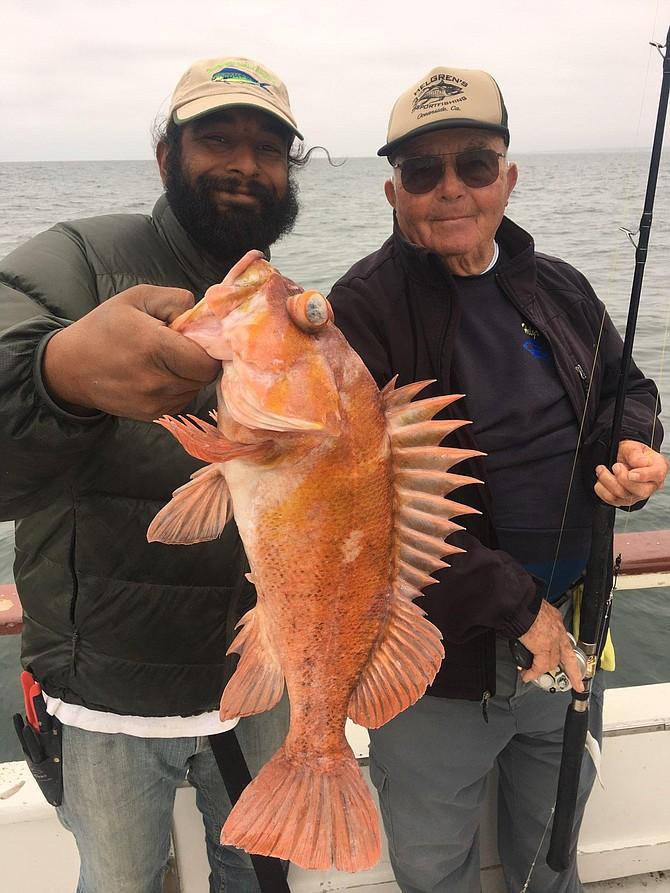 Larry with his jumbo rock fish!