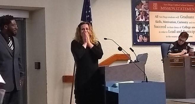 STEAM director Kimberleigh Kopp at meeting