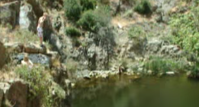 Box Canyon from 2004 video. March 17, 2018, 18-year-old female stuck on cliff at Box Canyon, down via rope ladder.