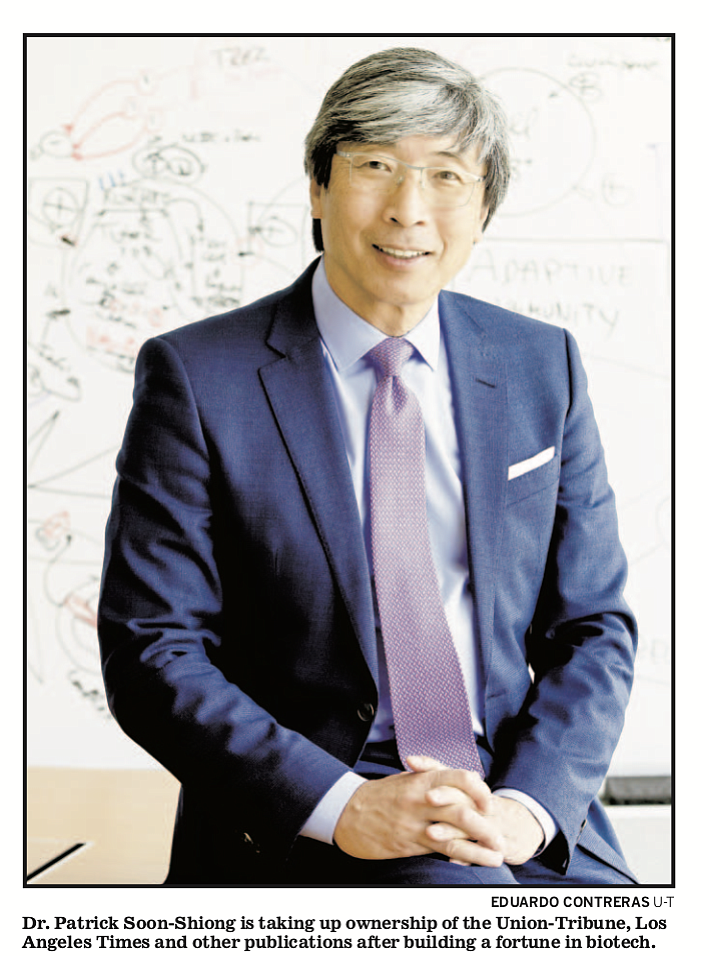 Full-length photo with caption on Sunday (April 15) cover of Union-Tribune