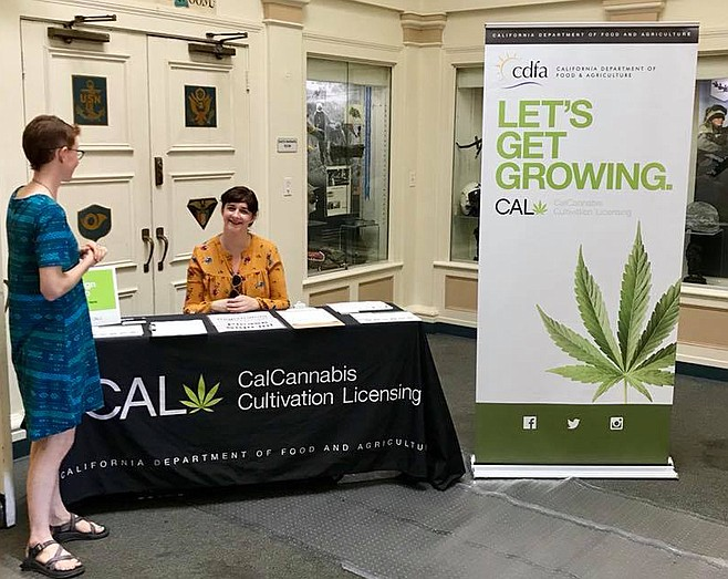 According to Rebecca Forée from the state's cannabis cultivation licensing, cannabis cultivation licenses require local authorization.