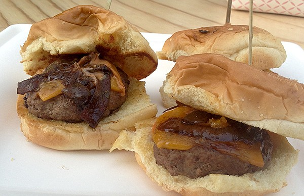 My sliders: basic but tasty (and filling)