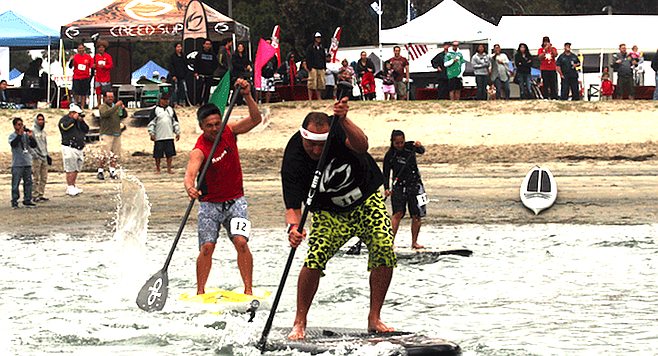 Outrigger and stand-up paddleboard vendors will rent demo equipment.