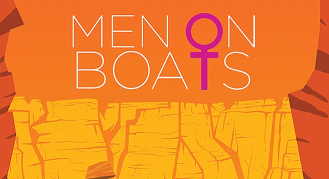 Women on stage in Men on Boats