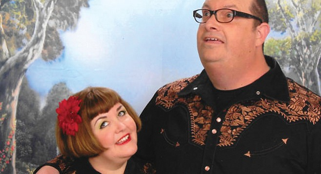 Husband-and-wife duo Pony Death Ride (pictured) invited father-daughter Exbats to San Diego.