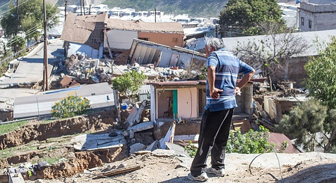 Somehow, nobody was killed or hurt when Tijuana's Lomas del Rubí neighborhood slid downhill.