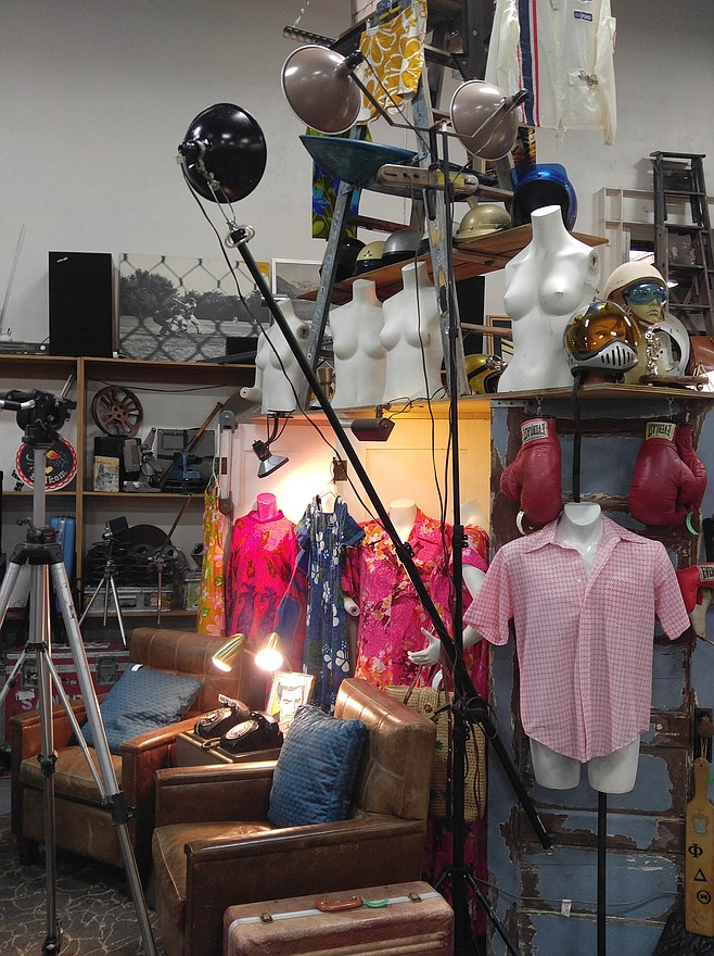 About half the Antique Center vendors moved to the Kurtz Street Vintage Marketplace behind the Sports Arena in Point Loma, including Gorham's space, The Mod Pad.
