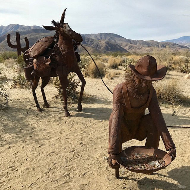 Cowboy and Mule Sculpture