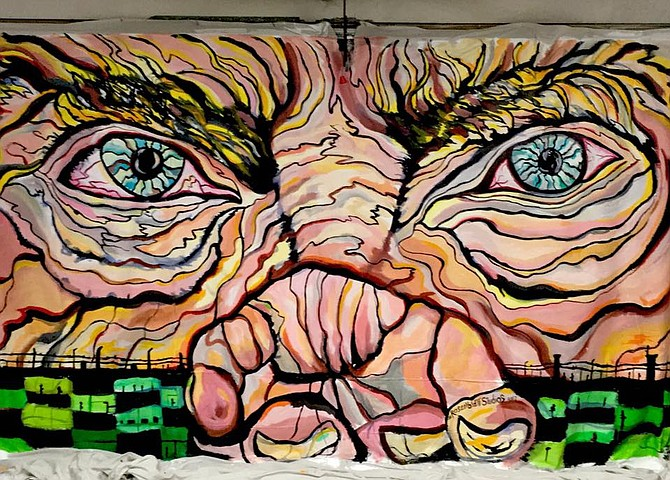 San Diego artist Michael Richard Rosenblatt's depiction of intolerance