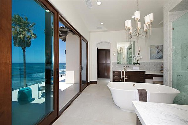 Why bathe in the sea when you can bathe overlooking the sea?