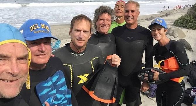 Del Mar BodySurfing Club. Ten hardcore bodysurfers show up in the wintertime. In the summer, 20–30 members.