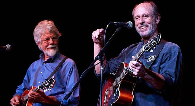 Fred Tackett and Paul Barrere: two longtime collaborators, two guitars, a mandolin, and a very comfortable groove.
