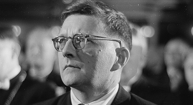 Dimitri Shostakovich. In the fifth symphony, he is forced to apologize to the entity which had been terrorizing him.