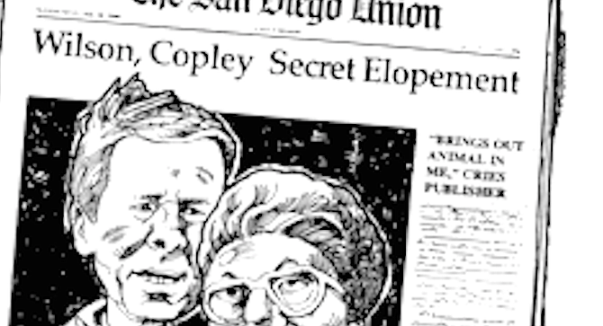The Copley papers were faithful editorial supporters of the mayor. - Image by John Workman