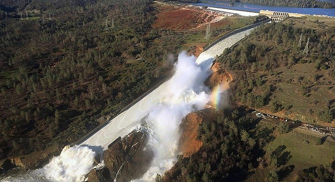 Oroville dam failure, February, 2017