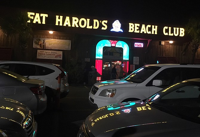 That jukebox feeling outside Fat Harold's Beach Club, North Myrtle Beach