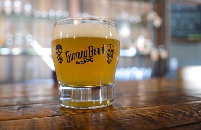 Burning Beer's SMASH beer (single malt and hop) showcasing Eukanot hops.