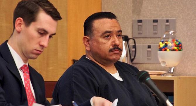 Attorney John Wilshke and defendant Neftali Lopez in court on May 2