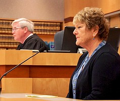 Judge Dahlquist n Katrina in court.